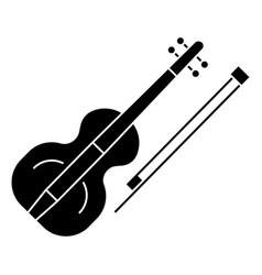 violin icon black sign on vector image vector image