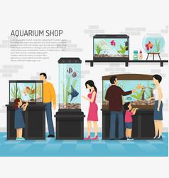 aquarium shop vector image vector image