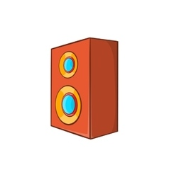 Brown speaker icon in cartoon style vector image