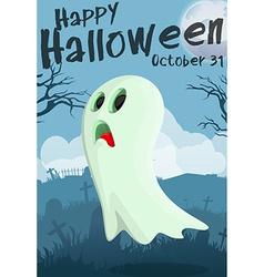 Halloween cartoon ghost vector image vector image
