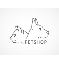 Pet Shop of an dog and cat vector image