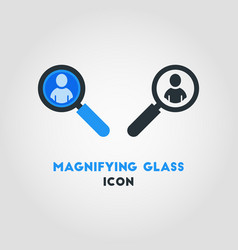 simple business icon of magnifying glass looking vector image
