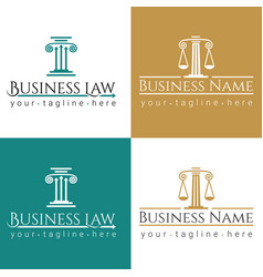 business law logo column vector image