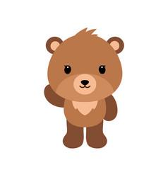 cute cartoon bear backgrounds flat design vector image