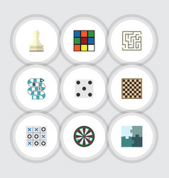 flat icon entertainment set of labyrinth vector image vector image
