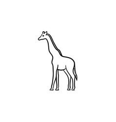 giraffe hand drawn sketch icon vector image