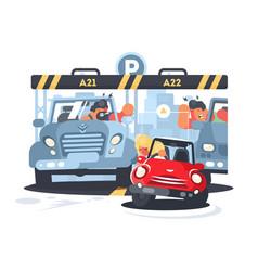 girl parking car vector image