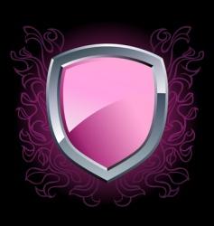 shield emblem vector image vector image