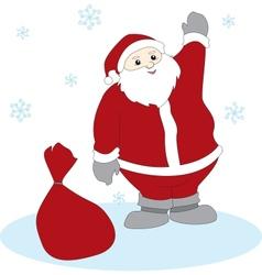 Waving Santa Claus vector image vector image
