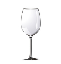 bright realistic wine glass on white vector image vector image