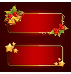 Christmas bright blank festive banners set vector image