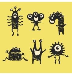 cute happy monsters vector image