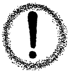 exclamation mark vector image
