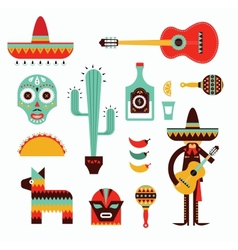 Mexico icons vector image vector image