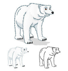 Polar Bear Cartoon Character vector image