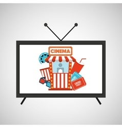 screen tv movie cinema concept icons vector image vector image
