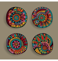 Set of decorative design elements vector image