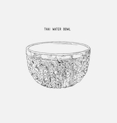Silver water bowl for blessing in songkran vector