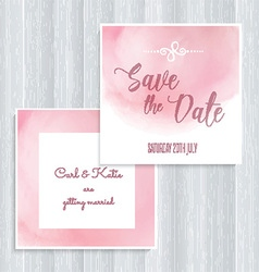 Watercolor save the date design vector