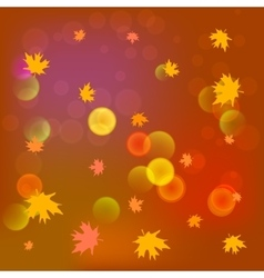 Abstract blurred background in yellow color vector image vector image