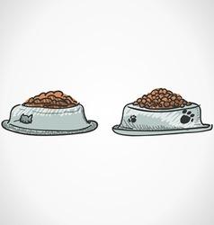 Animal Food Bowl vector image