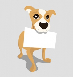 dog with message paper vector image