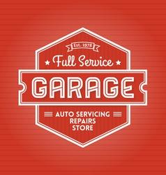 Garage label vector