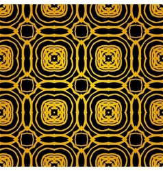 geometric art deco pattern with gold shapes vector image vector image