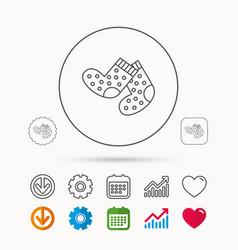 Socks icon baby underwear sign vector