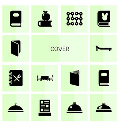 14 cover icons vector
