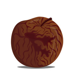 A drawing a rotten apple vector