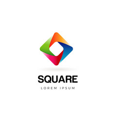 abstract colorful square logo symbol icon vector image