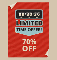 advertise poster with countdown clock and some vector image