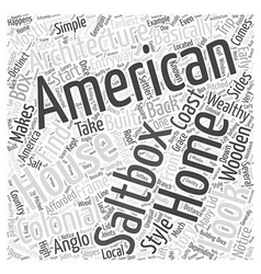 American Architecture Word Cloud Concept vector