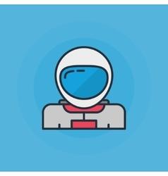Astronaut flat icon vector