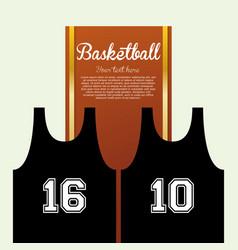 Basketballl design sport icon white background vector