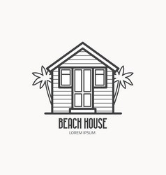 Beach house logotype vector