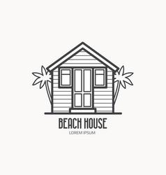 beach house logotype vector image