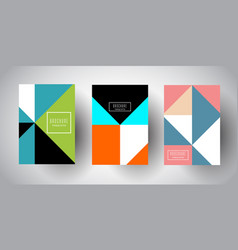 brochure templates with abstract low poly designs vector image
