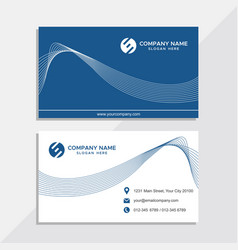 business card template images vector image