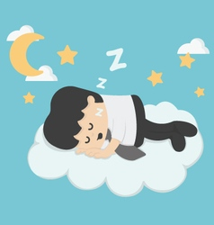 businessman Sleeping On Clouds vector image