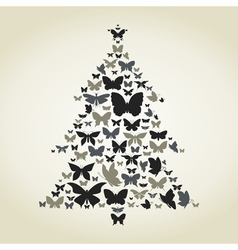 Butterfly a pine vector