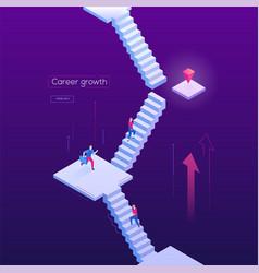 career growth - modern isometric web banner vector image