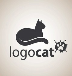 cat logo 6 vector image
