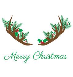 Christmas antlers vector
