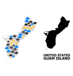 Climate pattern map guam island vector