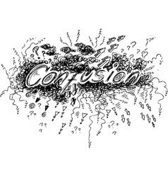 Confusion vector image