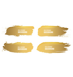 Creative of grunge gold rough vector