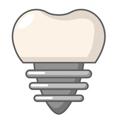 dental implant icon cartoon style vector image