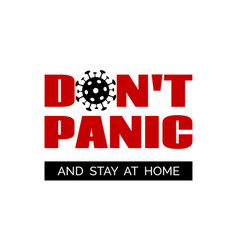 dont panic and stay home minimal banner vector image